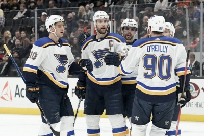 Pietrangelo's two goals lifts Blues to win over Ducks