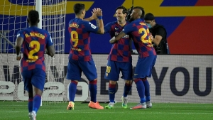 Messi on target in hard-fought win for leaders