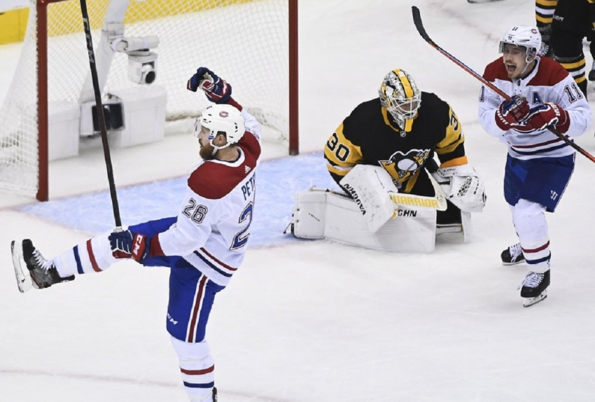 Jeff Petry lifts Canadiens past Penguins in OT in Game 1
