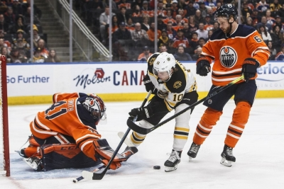 Pastrnak scores winner in Bruins' OT win over Oilers