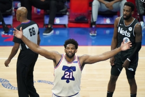 Brooklyn Nets v Philadelphia 76ers: Embiid, 76ers top undermanned Nets for 1st in East