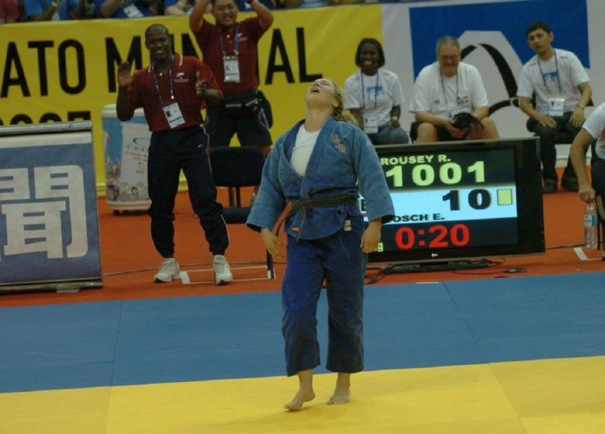 Ronda Rousey as active judoka that launched her career to be the most famous combat woman of her era