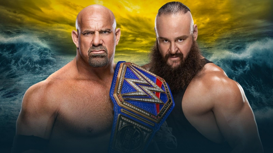 WWE's official announcement for Goldberg vs. Strowman