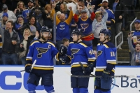 Barbashev scores twice, Blues beat Devils