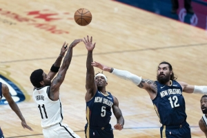 Brooklyn Nets v New Orleans Pelicans: Irving leads short-handed Nets past Pelicans