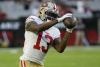 49ers wide receiver Richie James Jr. breaks right wrist