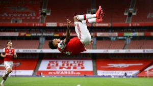 Fifty up for Auba as Gunners boost Champions League hopes