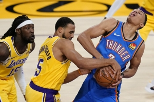 Oklahoma City Thunder v Los Angeles Lakers: LeBron leads Lakers past Thunder again in OT