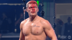 Cody Rhodes suffers injury as result of steel cage moonsault on AEW Dynamite