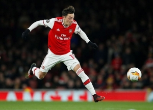 Europa League - Round of 32 Second Leg - Arsenal v Olympiacos - Emirates Stadium, London, Britain - February 27, 2020 Arsenal's Mesut Ozil in action