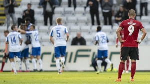 Kamil Wilczek scored his first two goals for FC Copenhagen, but it was not enough to defeat OB.