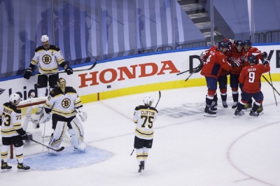 Capitals beat Bruins to earn East 3 seed, face Isles next