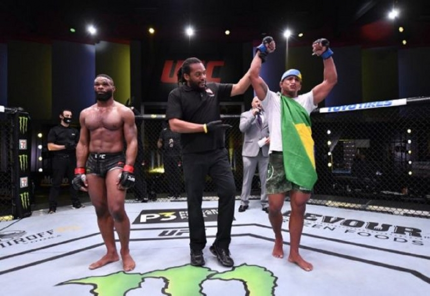 Burns dominates Woodley at UFC Fight Night