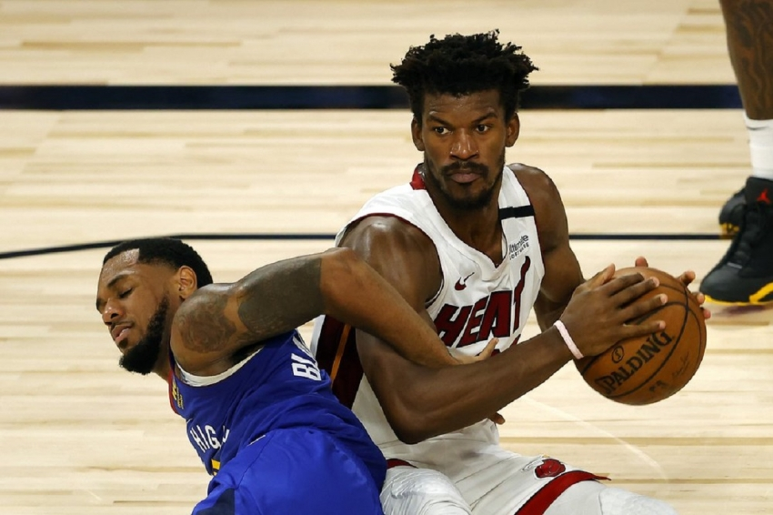 Butler, Adebayo score 22 each as Heat top Nuggets
