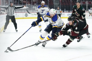 St. Louis Blues v Arizona Coyotes: Faulk scores twice, Blues beat Coyotes in unique series