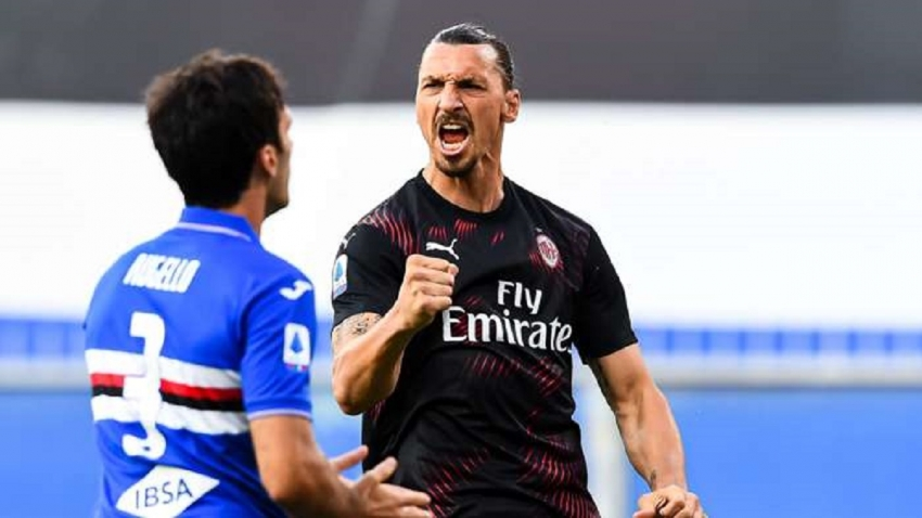 Inspired Ibrahimovic scores twice for rampant Rossoneri